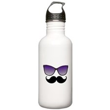 Sunglasses Mustache Sports Water Bottle