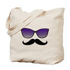 Sunglasses Mustache Tote Bag