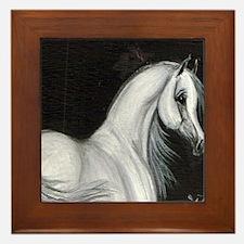 Grey Arabian Horse Framed Tile