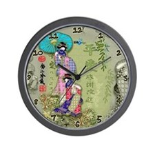 Asian Girls Green Clock