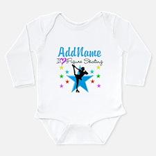 ICE SKATING STAR Long Sleeve Infant Bodysuit