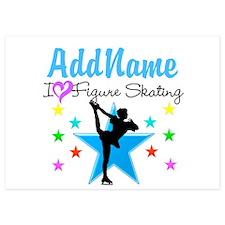 ICE SKATING STAR Invitations