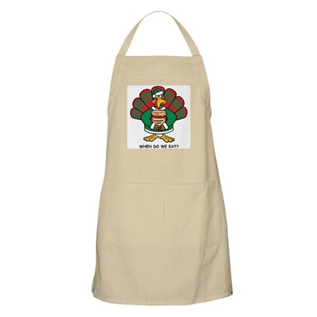 Turkey Santa's Helper BBQ Apron
