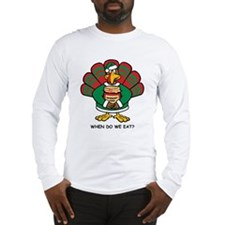Turkey Santa's Helper Long Sleeve T-Shirt