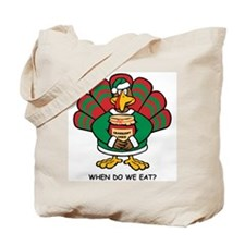 Turkey Santa's Helper Tote Bag