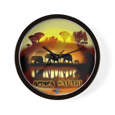 Africa Elephant Safari Clock