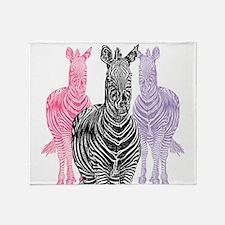 Trio Zebra Print Throw Blanket