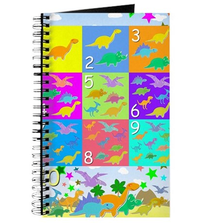 Learn Counting 1 to 10 Cute Dinosaurs Journal