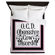 Obsessive Cow Disorder Queen Duvet
