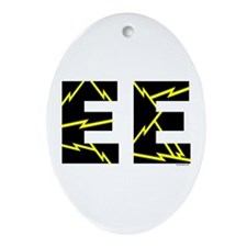 Charged EE Oval Ornament