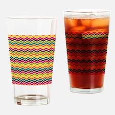 Tropical rainbow chevron pattern Drinking Glass