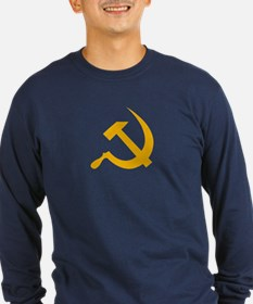 USSR (Russia) Hammer & Sickle Long Tee (Blue)