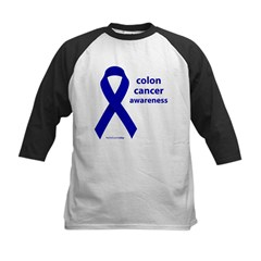 Colon Cancer Awareness Kids Baseball Jersey