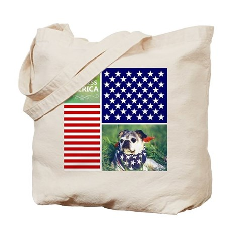 Dog Bless America Tote Bag