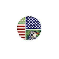 Dog Bless America Mini Button