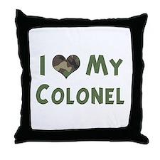 Colonel: Love - camo Throw Pillow