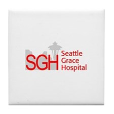 Red SGH Logo Tile Coaster