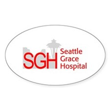 Red SGH Logo Oval Decal