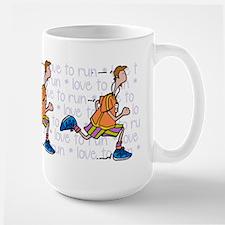 Love to run (man) Large Mug