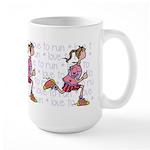 Love to run (woman) Large Mug