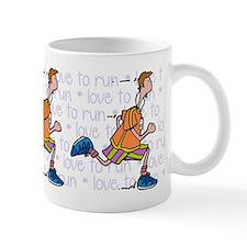 Love to run (man) Small Mug