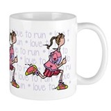 Addicted to running Coffee Mugs