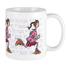 Love to run (woman) Small Mug