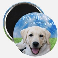 Dogs leave paw prints on your heart Magnet