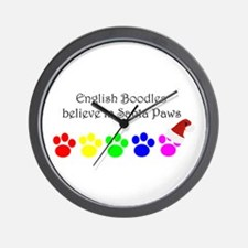 English Boodles believe Wall Clock