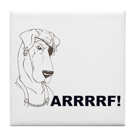 Arrrrrrrf Tile Coaster