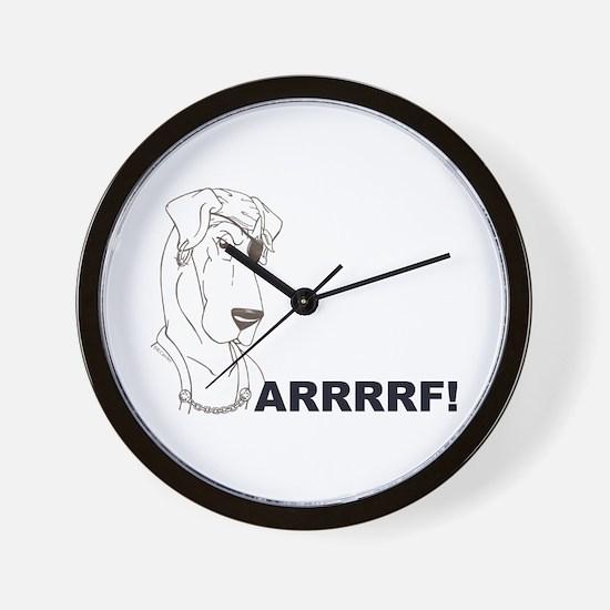 Arrrrrrrf Wall Clock