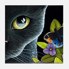 Cat 557 Tile Coaster