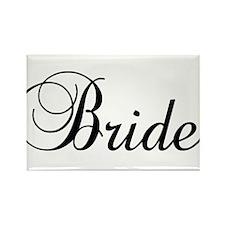 Bride Dark Rectangle Magnet