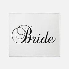 Bride Dark Throw Blanket