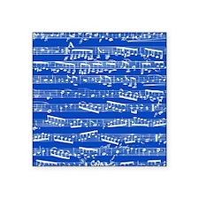 "Dark blue music notes Square Sticker 3"" x 3"""