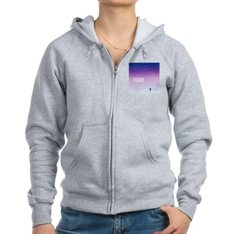 Dream and make a wish on a dand Women's Zip Hoodie