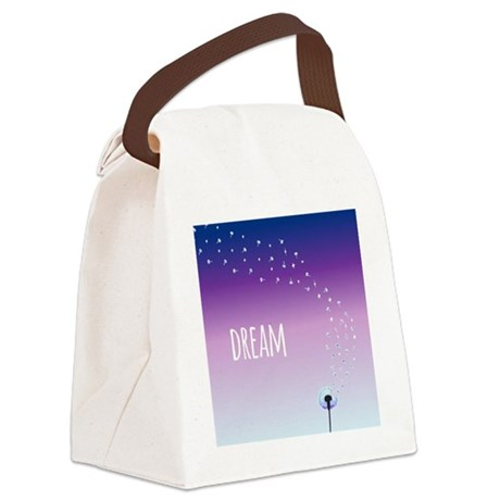 Dream and make a wish on a dandel Canvas Lunch Bag