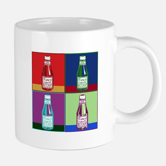 Pop Art Ketchup Mugs