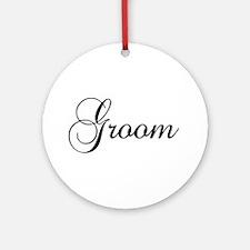 Groom Dark Ornament (Round)