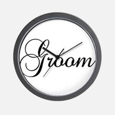 Groom Dark Wall Clock