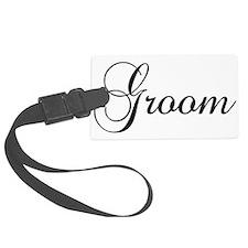 Groom Dark Luggage Tag