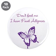 """Butterfly Dont Feed Me 3.5"""" Button (10 pack)"""