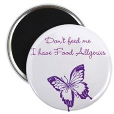 "Butterfly Dont Feed Me 2.25"" Magnet (10 pack)"