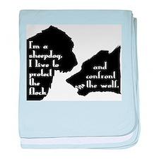 Im a Sheepdog baby blanket