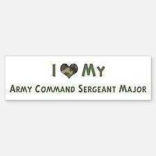 Army Command Sergeant Major: Bumper Bumper Bumper Sticker