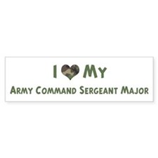 Army Command Sergeant Major: Bumper Bumper Sticker
