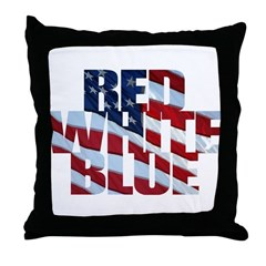 Flag colors Throw Pillow