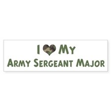 Army Sergeant Major: Love - c Bumper Bumper Sticker