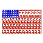 Foal Flag Rectangle Sticker