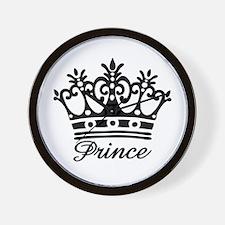 Prince Black Crown Wall Clock